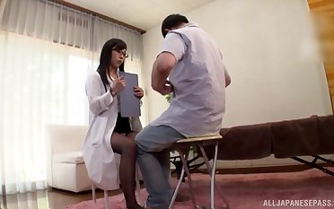 Reality Asian porn with the hot nurse asking for it