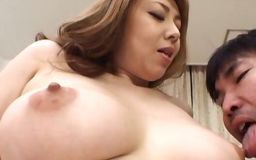 Asian MILF gives a sloppy blowjob with an increment of swallows cum in POV video