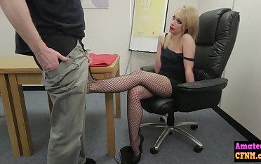 Naughty erotic light-complexioned sucks femdom bushwa