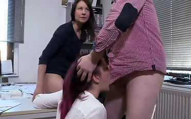 Premium office hardcore at work with Natalie Hot