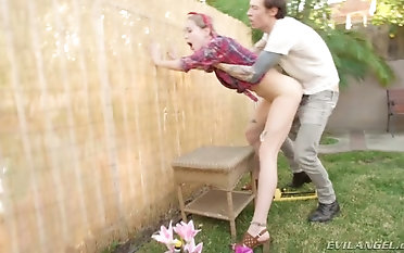 There's nothing Haley Reed hasn't done and she loves fucking in a backyard